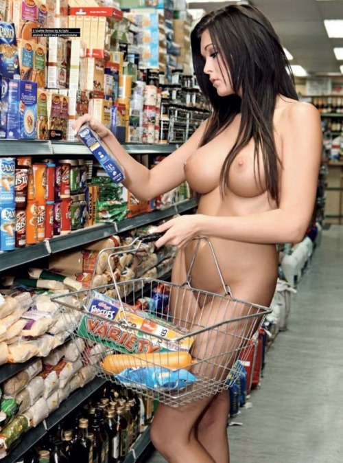 Can Nude girls in a shop